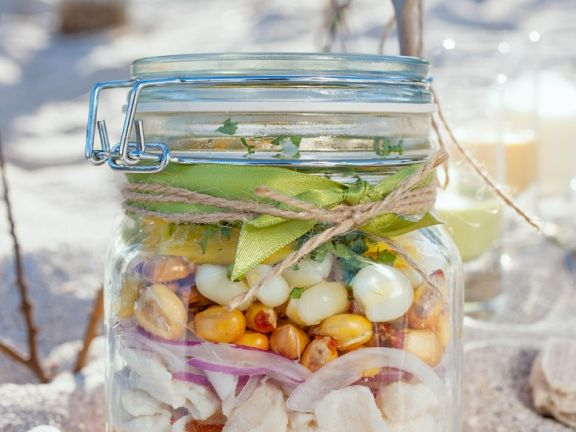 Ceviche with Tilapia, Garlic, Onions and Peppers