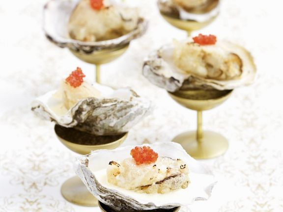 Champagne Oysters with Cream Sauce