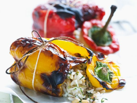 Charred and Filled Peppers