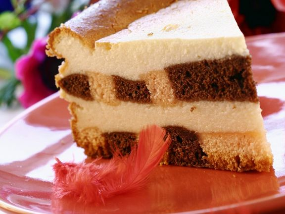 Checkerboard Cheesecake Torte