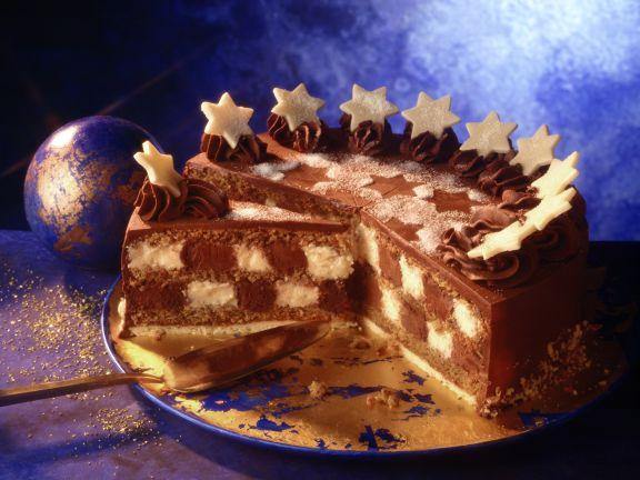 Checkerboard Christmas Cake
