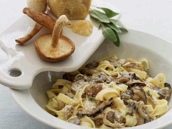 Cheese and Mushroom Pasta Bowl