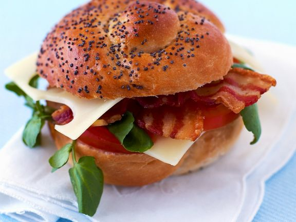 Cheese BLT on a Seeded Roll