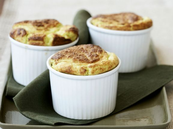 Cheese Soufflés with Spinach