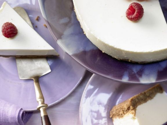 This no-bake cheesecake is lightened with yogurt, while whole-wheat cookies make a healthier crust