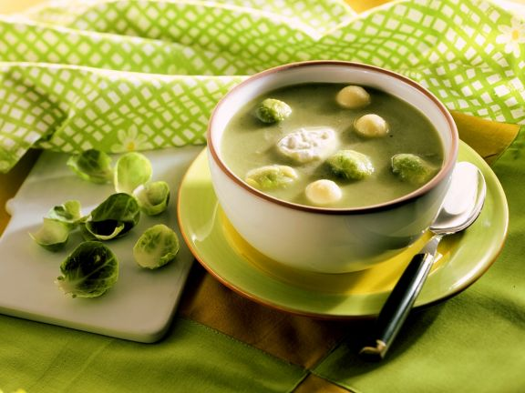 Cheesey Brussels Sprouts Soup