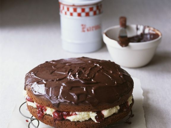 Sandwich Gateau with Chocolate Topping