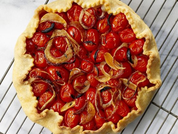 Cherry Tomato and Rosemary Galette