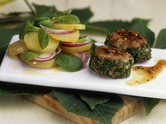 Chestnut Burgers with Salad