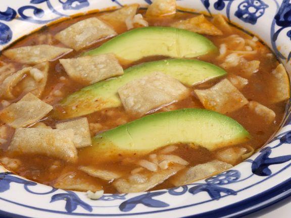 Chicken and Avocado Tortilla Soup