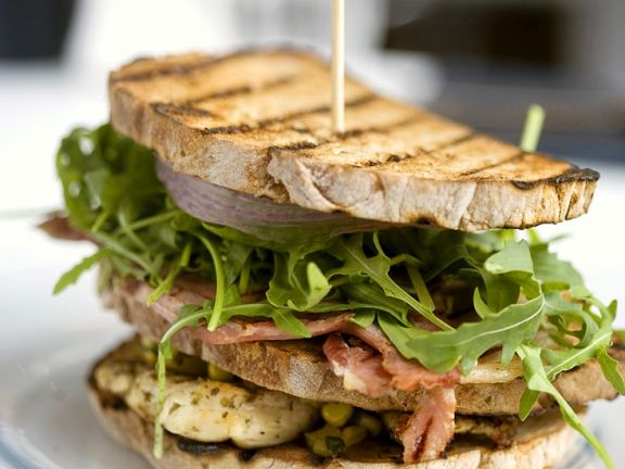 Chicken and Bacon Grilled Sandwich