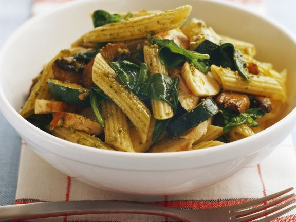 Chicken and Basil Penne Bowl