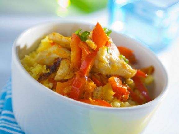 Chicken and Red Pepper Bowl