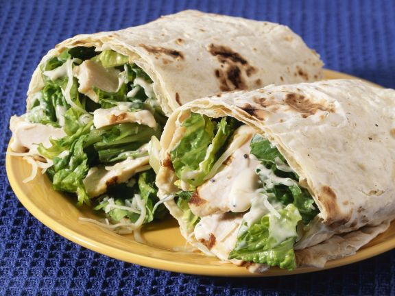 Chicken and Salad Rolled Sandwiches
