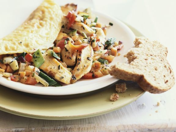 Chicken and Vegetable Omelette