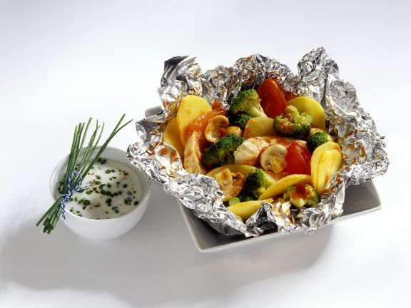 Chicken and Veg in Foil Parcels