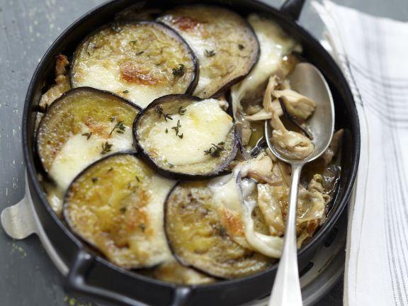 Chicken, Aubergine and Mozzarella Bake