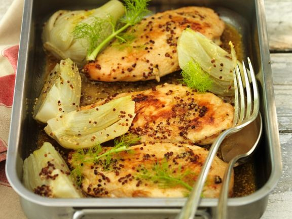 Chicken Breast with Fennel and Coarse Mustard