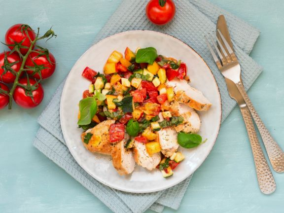 Chicken Breast with Nectarine-Tomato Salsa