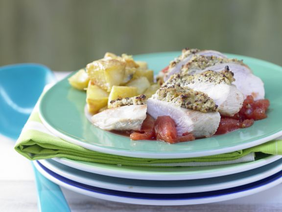 Chicken Breast with Olive Crust
