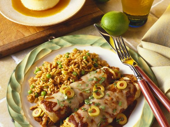 Chicken Enchiladas with Olives