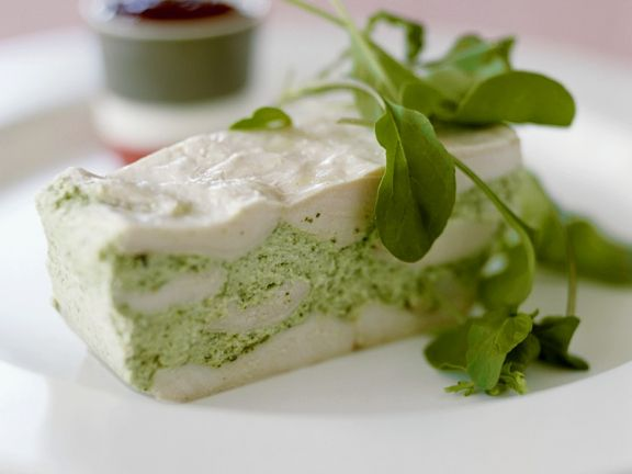 Chicken, Goat Cheese and Arugula Terrine