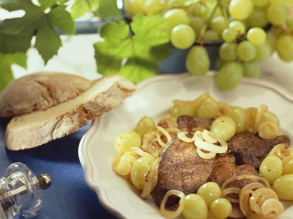 Chicken Livers with Grapes
