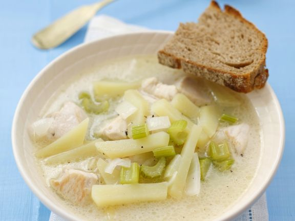 Chicken Soup with Celery and Potatoes