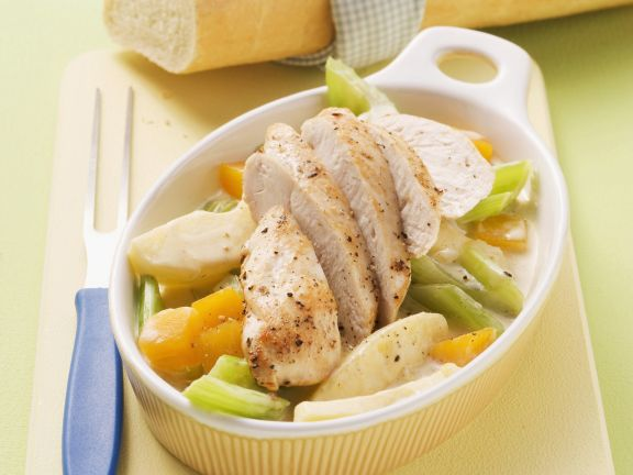 Chicken with Creamed Vegetables