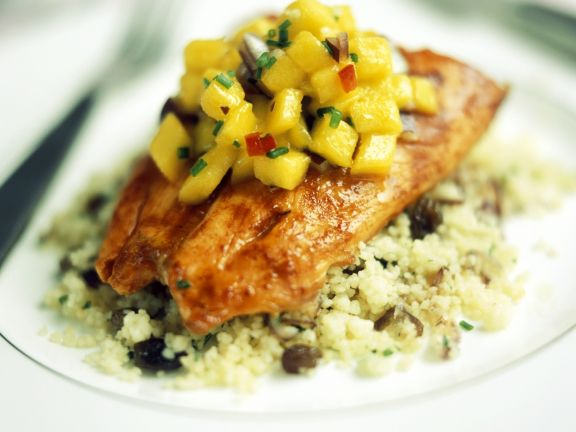 Chicken with Mango Chutney and Couscous