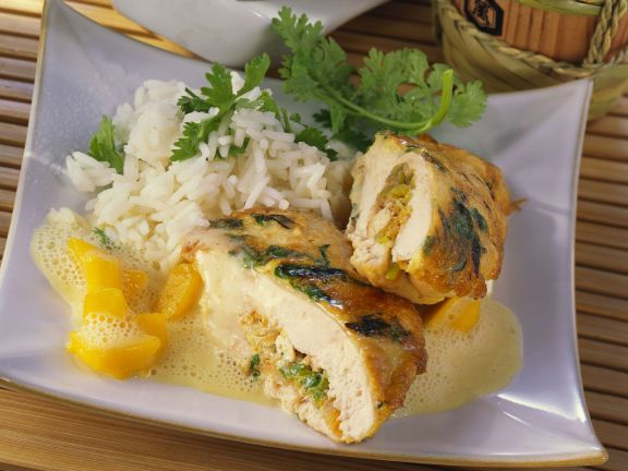 Chicken with Tropical with White Rice