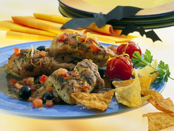 Chicken with Oranges and Herbs