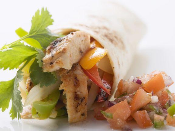 Chicken Wrap with Salsa