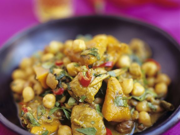 Chickpea Curry with Chilli