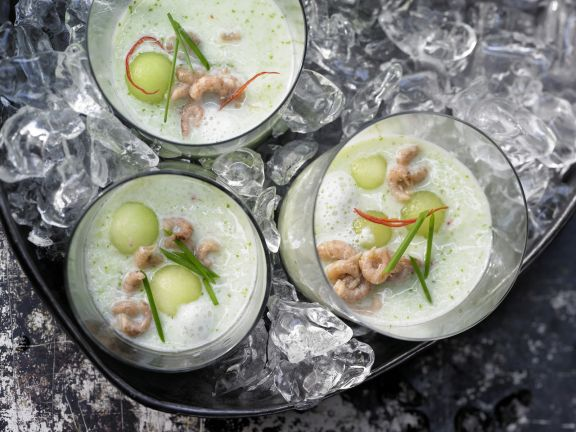 Chilled Melon and Cucumber Soup