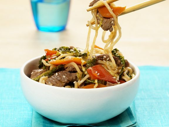 Chinese egg noodles with beef recipe eat smarter usa chinese egg noodles with beef forumfinder Gallery