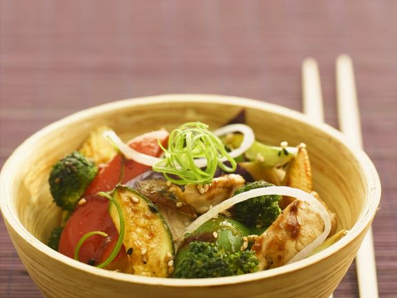 Chinese inspired chicken and vegetable stir fry recipe eat smarter usa chinese inspired chicken and vegetable stir fry forumfinder Image collections