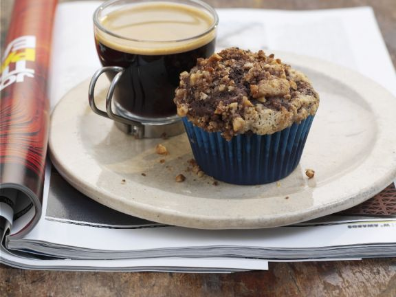 Choc Chip Muffins with Crumble Topping