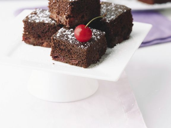 Choccy Cherry Traybake