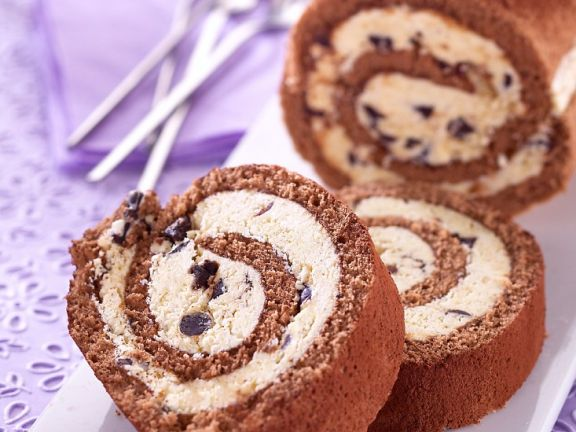 Chocolate and Almond Swiss Roll