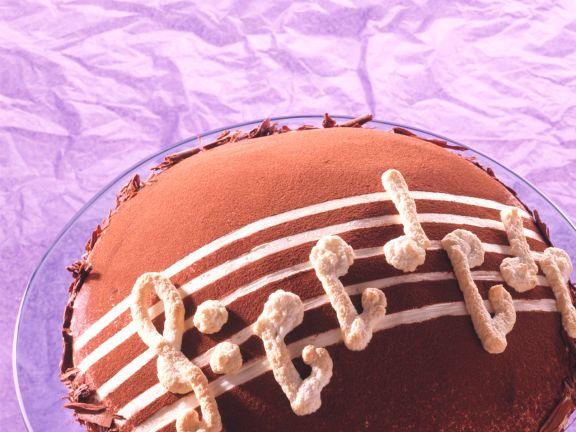 Chocolate and Strawberry Meringue Cream Torte