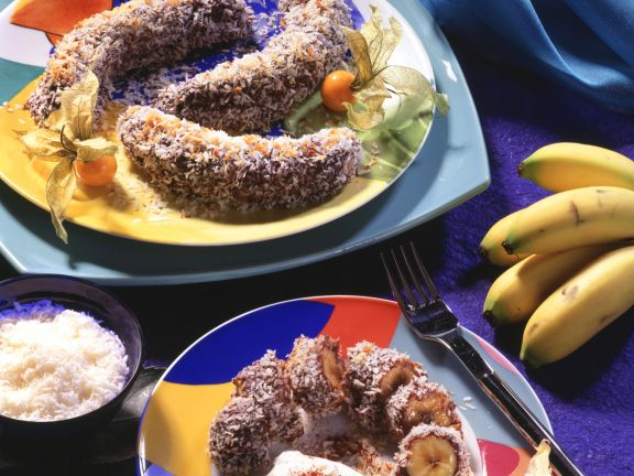 Chocolate Bananas in Coconut