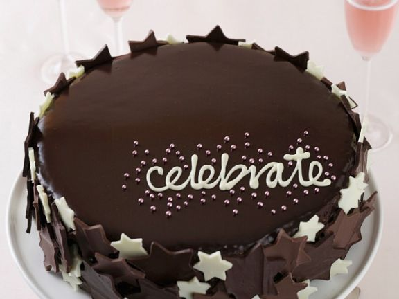 Chocolate and Hazelnut Celebration Gateau