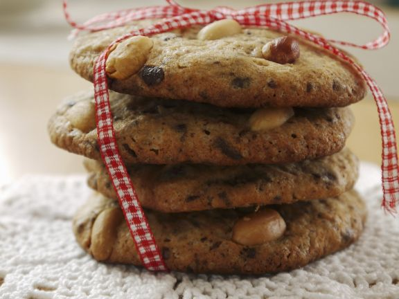 Choc-chip and Nut Biscuits