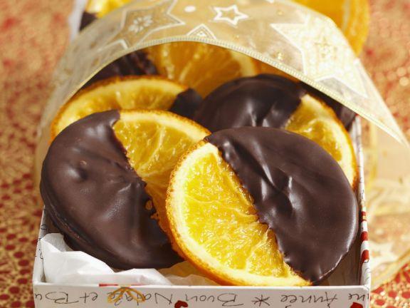 Chocolate Dipped Crystallised Orange Slices