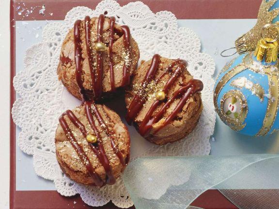 Chocolate Drizzled Hazelnut Cookies