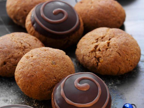 Chocolate-Glazed Spice Cookies