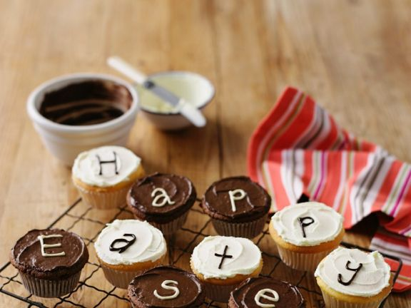 Chocolate Letter Cupcakes