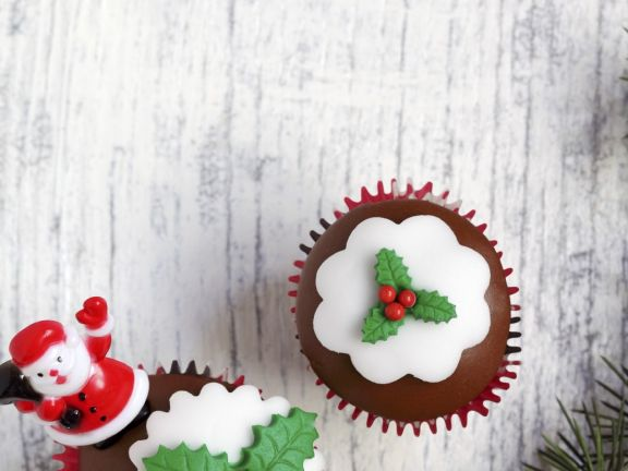 Chocolate Mincemeat Festive Cupcakes