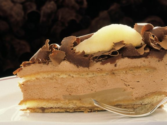 Chocolate Mousse Pear Cake